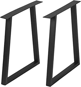 Metal Furniture Legs Metal Legs for DIY Coffee Table Furniture Bench,Cast Iron Coffee Table Legs 28¡±Height 24¡±Wide,Industrial Black Dining Table Legs,Rustic Duty Square Tube Desk Legs 2 Pcs