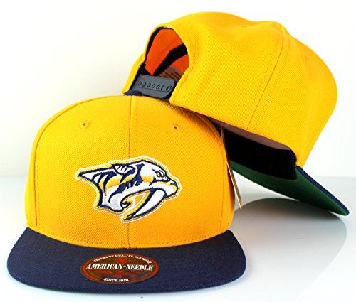 NHL American Needle 400 Series Flat Brim Cap (Adjustable, Nashville Predators) - Nashville Predators Helmet