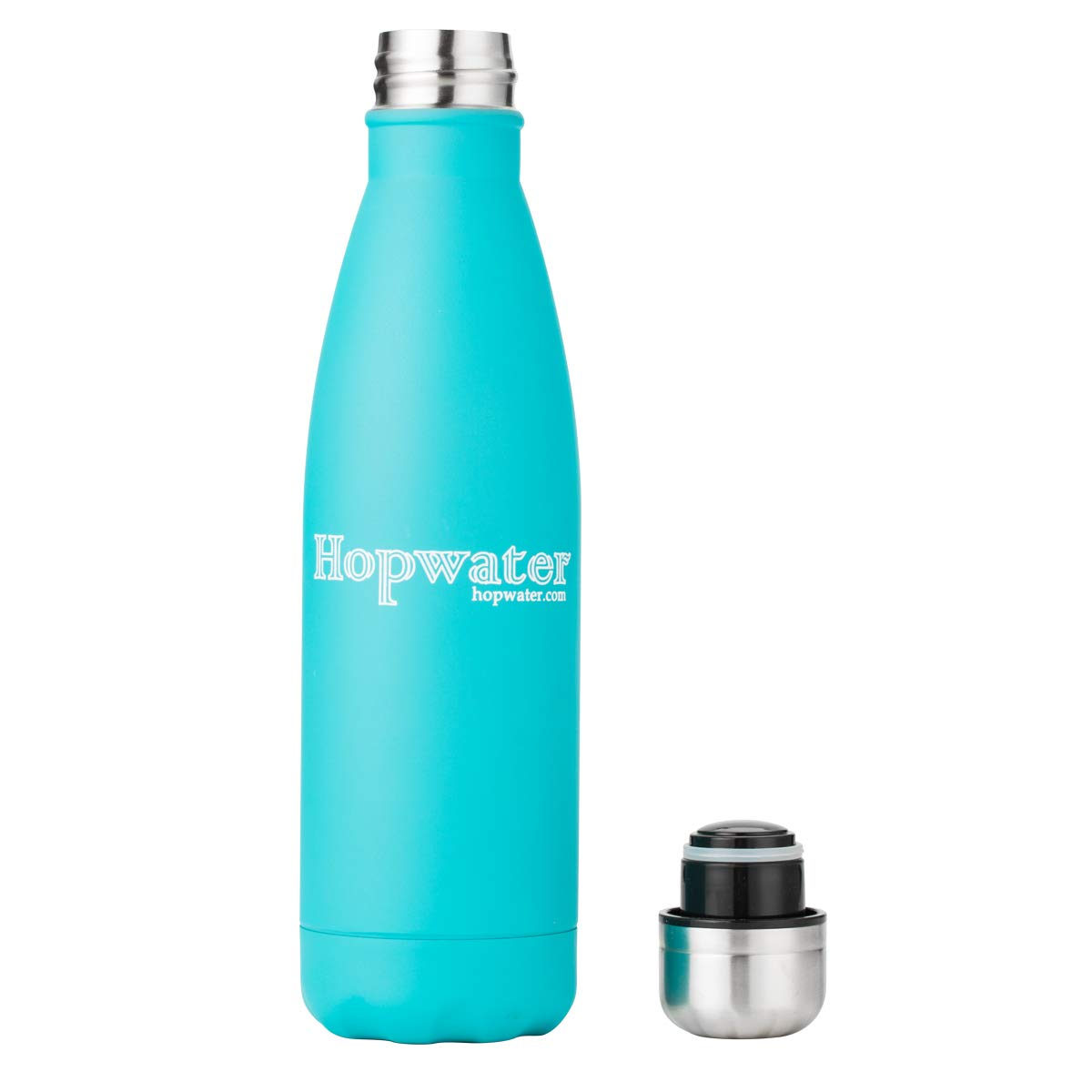 Hopwater Vacuum Insulated Double Wall Stainless Steel Bottle Aquamarine 17 oz