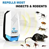 Ultrasonic Mosquito Pest Repellent (4 Pack) - 2018 Insect Rodent Control Plugin Repeller. Repels Ants, Roaches, Fleas, Rats, Bugs, Fruit Fly, Cockroaches and More
