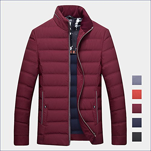 Jacket Mens Zipper plus Thin 200 ZHUDJ yuan Jacket Stripes 10 Winter 5XL Mens Slightly Dark Collar wfqxIXEO