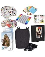 HP 2x3 inch Premium Zink Fotopapier (50 Pack) Accesory Kit met Fotoalbum, Case, Stickers, Markers