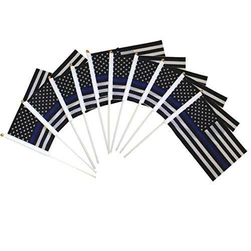 Hand American Flag Decal (United States of Flags,Promisen 10PCs American Hand Wave Flag 5.51