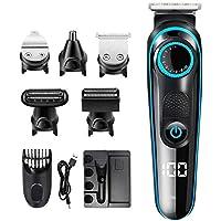 مجموعة ماكينة حلاقة الشعر للرجال من انوو تك، 5 ×1 متعددة الوظائف لتشذيب شعر الانف واللحية والجسم، مجموعة حلاقة احترافية…