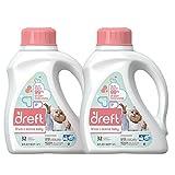 Dreft Stage 2: Active Baby Liquid Laundry Detergent (HE), 50 Fl Oz (32 Loads), 2 Count