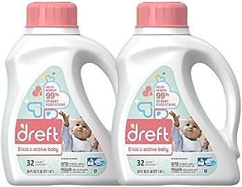 2-Pk. Dreft Stage 2 Active Hypoallergenic Baby Laundry Detergent