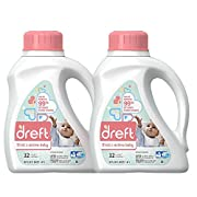 Dreft Stage 2: Active Hypoallergenic Liquid Baby Laundry Detergent (HE), 50 Ounces (32 Loads), 2 Count