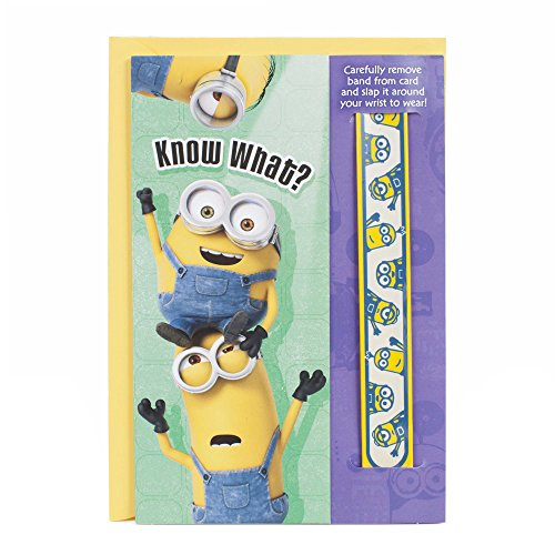 Hallmark Birthday Card (Minions, One of a Kind with Removable Slap Band)