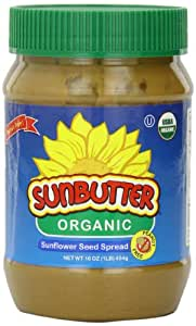 SunButter Sunflower Butter, Delicious, Organic Alternative to Peanut Butter, 16 ounce plastic jars, Pack of 3