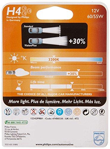 Ampoule de phare Philips H4 PR 12 V 60-55 W