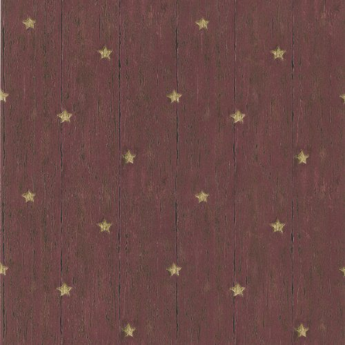 brewster-418-60019-jefferson-red-wooden-panel-with-stars-wallpaper-red