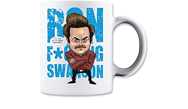 Taza MaikesTic Ron Swanson Me tenías en la carne Tornado ...