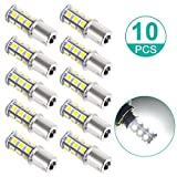 #10: Sunnest Super Bright 1156 LED Light bulb, 12V 7506 1003 1141 18-SMD LED Bulbs For Car Rear Turn Signal lights Interior Brake Light Lamp Backup Lamps RV Camper White 10-pack
