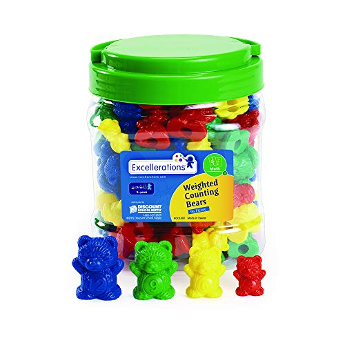 (Excellerations Math Manipulatives Set of 96 Bear Counters 1.5
