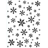 Darice Embossing Folder Background 5-Inchx7-Inch-Snowflake