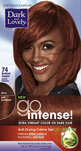 Dark and Lovely Go Intense! Hair Color, No.74, Radiant Cooper, 1 ea
