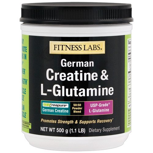 Fitness Labs Creatine and L-Glutamine, 500 Grams