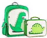 Kit Set Mochila Lonchera Escolar Escuela Beatrix Niño Niños Niña Excelente Calidad Colegio Dinosaurio Primaria