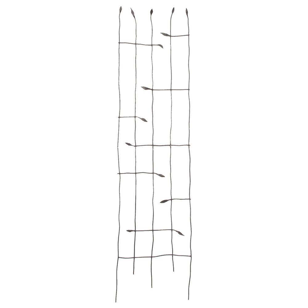 Panacea Forged Twig Trellis With Leaves (89481)