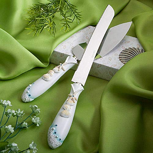 - Seashell and Starfish Wedding Cake Serving Set Cake Knife and Server Set Party Supplies tokocanna