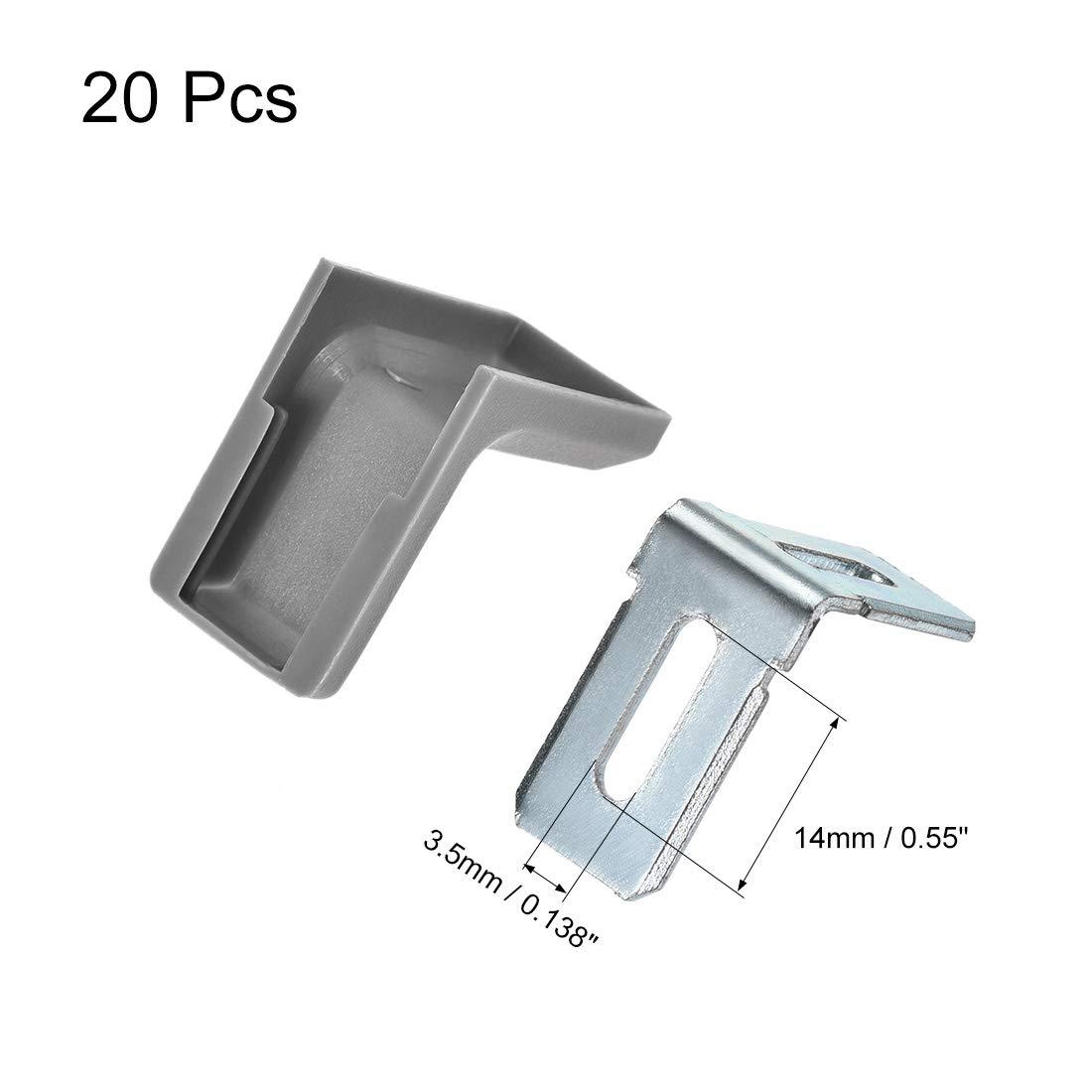 28 x 18 mm Regal uxcell Eckverbinder f/ür Schrank rechtwinklig 28x18mm,30 Pcs schwarz