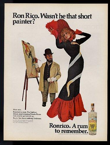 Ronrico Rum (1968 Ron Rico Short Painter Ronrico Rum Original Print Ad (11044))