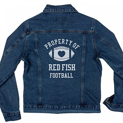 Property Of Red Fish Football Ladies Denim Jean Jacket