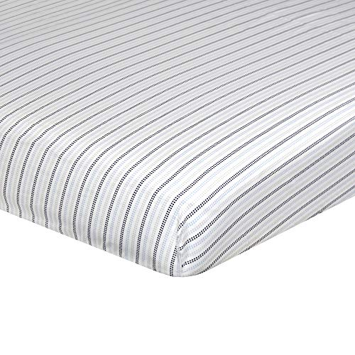 Just Born Dream Sateen Sheet, Navy Stripes, One Size