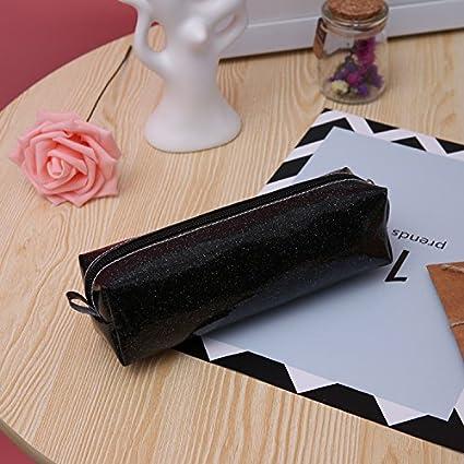6 cm Nero 6 JUNGEN Astuccio Portapenne Piccolo Nero Moda Glitter Matita Portapenne Matita Storage Bag 20