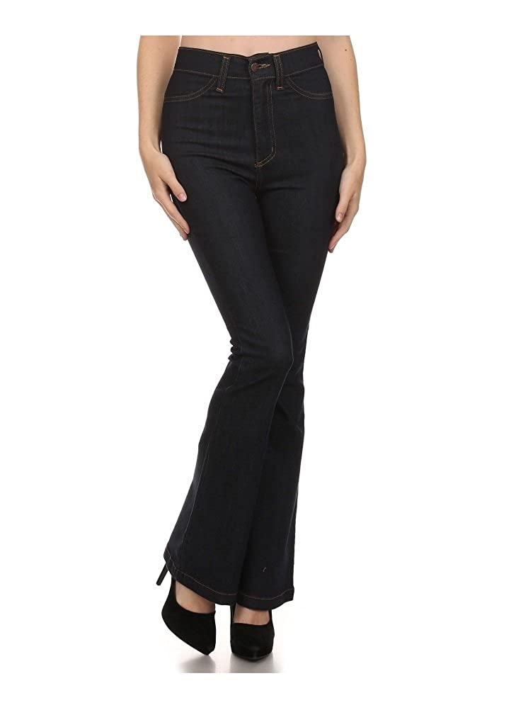 Vintage High Waisted Trousers, Sailor Pants, Jeans Kinny & Howie Farrah High Waist Flared Bell Bottom Vintage 1970s Style Jeans $45.00 AT vintagedancer.com
