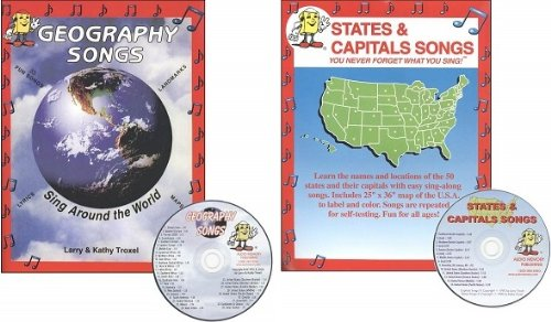 (Audio Memory Songs Geography CD SET -- Geography and States and Capitals (You Never Forget What You Sing!))