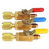 HITTIME 1 Pcs R410A R134a Shut Ball Valves For A/C Charging Hoses HVAC 1/4'' AC Refrigerant