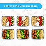 MontoPack Disposable Takeout Pans with Clear Lids   1lb Capacity Aluminum Foil Food Drip Containers with Strong Seal for Freshness & Spill Resistance   USA Made Eco-Friendly & Recyclable 100Pack