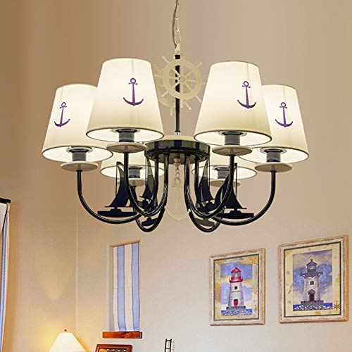 (WOAIM Modern Ceiling Light Fixture Chandelier Design Nautical Style Creative Fantasy Luminaire Kid's Bedroom Children's Room Kids Bedroom,6heads)