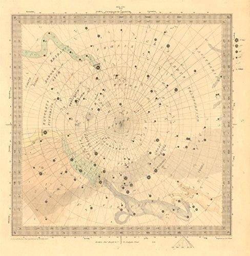 Astronomía Celestial. Star Mapa. Star Gráfico, VI. Polo Sur. sduk ...