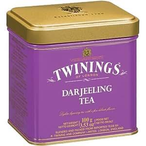 Twinings Darjeeling Loose Tea Tin 100 Gram, Pack of 2