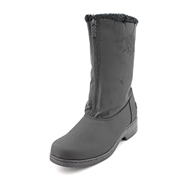 Totes Womens Stride 2 Waterproof Snow boots Fabric Closed Toe Black Size 7.0 C