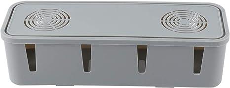 Yardwe Kabelbox Kabelmanagement Box Kabelaufbewahrung Kabel Organizer Box Für Zuhause Büro Schreibtisch Fernseher Steckdose Computer Usb Hub System Zum Abdecken Und Verstecken Grau Küche Haushalt