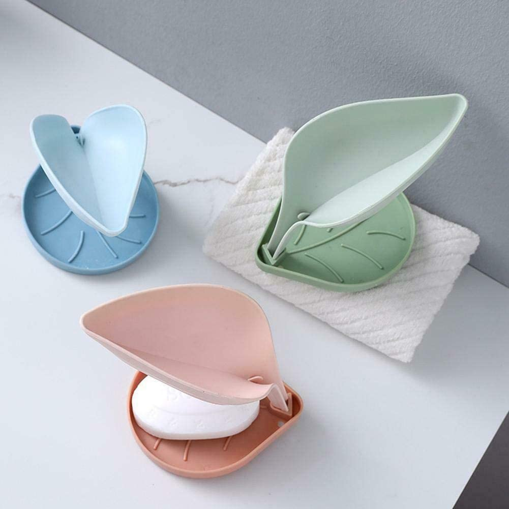 3 PCS Double Layer Leaf Soap Box Non-Slip Sink Drain Rack Sponge Holder Trays for Kitchen And Bathroom