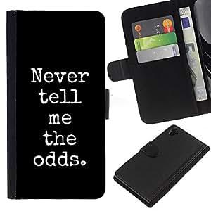 KingStore / Leather Etui en cuir / Sony Xperia Z2 D6502 / Poker Blackjack Noir