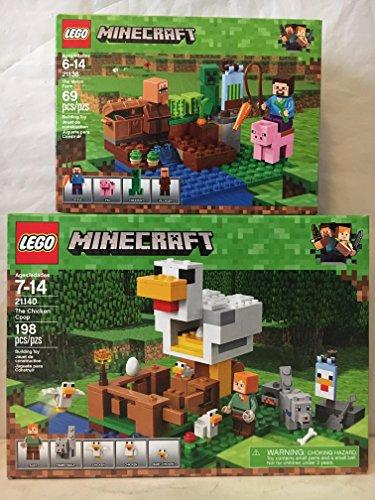LEGO Minecraft The Chicken Coop & LEGO Minecraft The Melon Farm ()