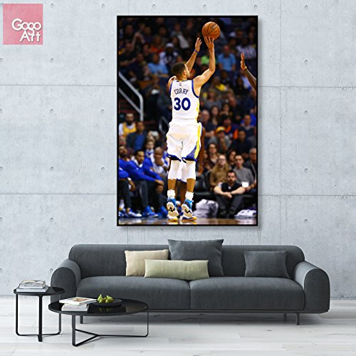 GoGoArt ROLL Canvas print wall art panorama photo big picture poster modern (no framed no stretched not oil painting) Stephen Curry Golden State Warriors nba mvp basketball A-0088-1.5 (24 x 36 inch)