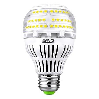 Sansi Bombilla LED E27 20W (150W Euivalente) 2500 Lumenes Iluminacion Industrial A19 Regulable 3000K