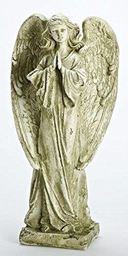 "Roman 22"" Weathered Religious Praying Angel Outdoor Garde..."