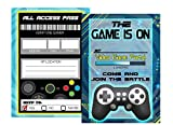 Silly Goose Gifts Video Game Themed Party Supplies for Your Gamer (Invitations) 12 Invites - 5x7 in