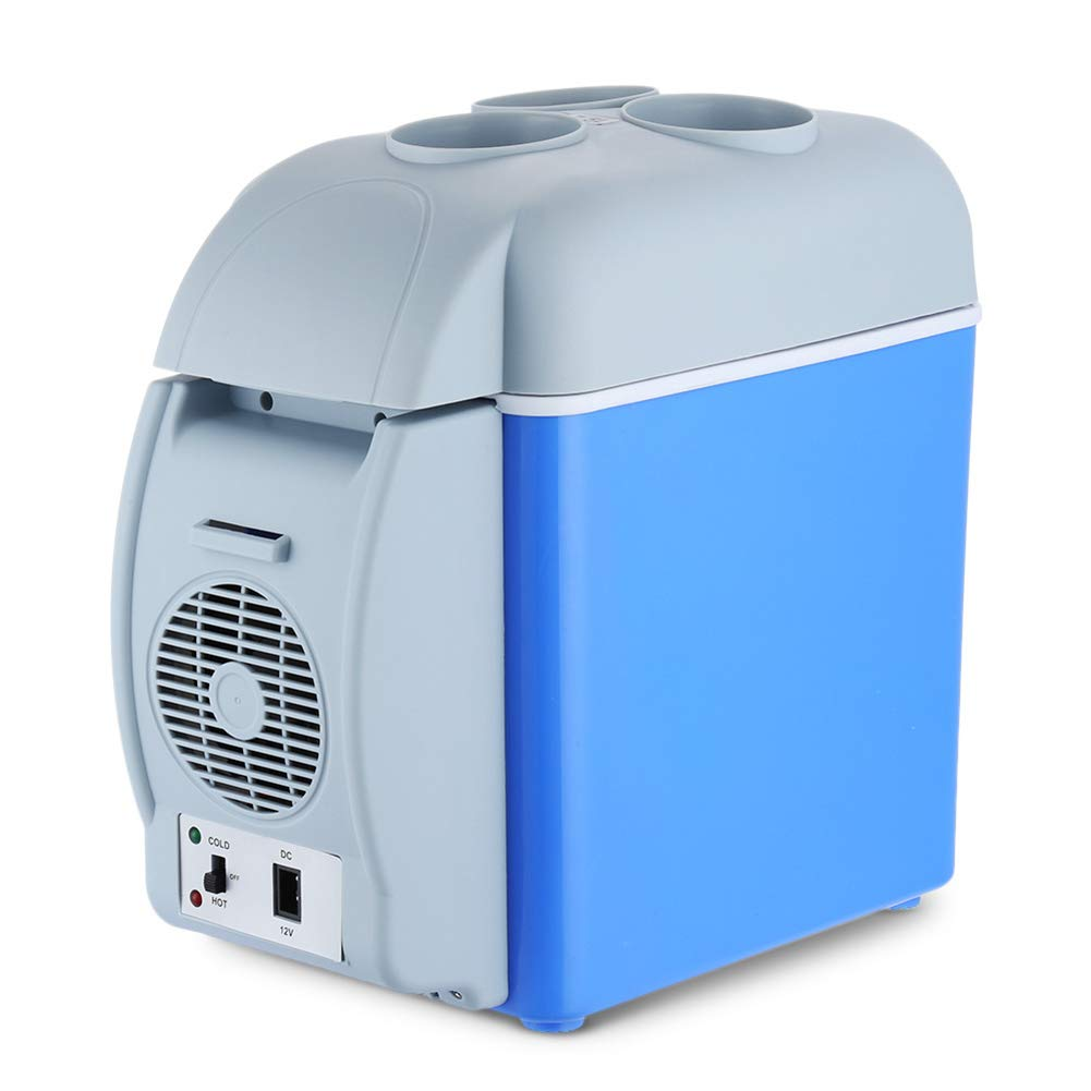 MAMASAM Mini Car Refrigerator Can Keep Cooler and Warmer Portable Household Refrigerator with Cup Holder 7.5l Capacity