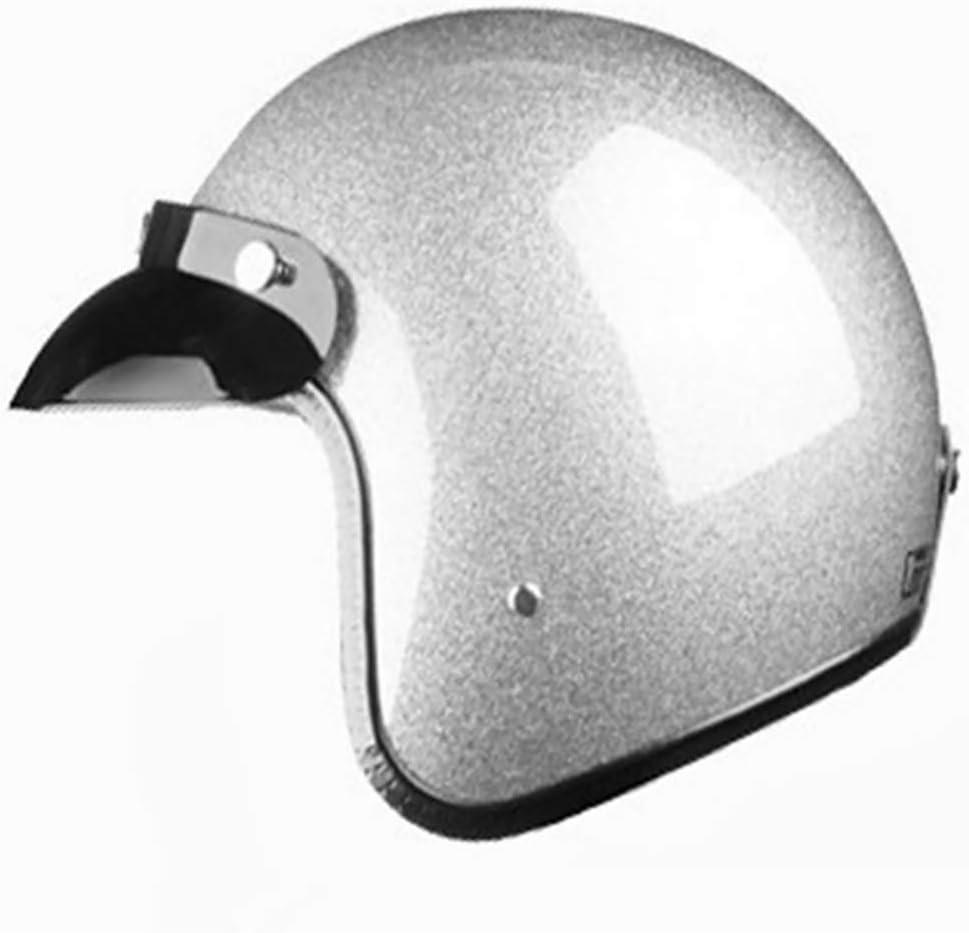 LALEO Flash Open Face Motorcycle Helmet Summer Breathable for Adults Men /& Women Half Helmet Gold Silver S-XXL 55-64cm