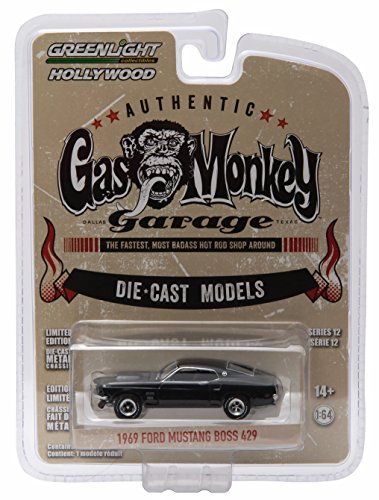 1969 FORD MUSTANG BOSS 429 from the show GAS MONKEY GARAGE * GL Hollywood Series 12 * 2016 Greenlight Collectibles Limited Edition 1:64 Scale Die Cast Vehicle