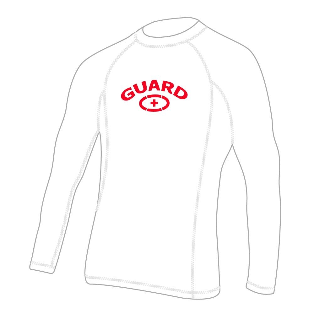 Adoretex Herren Guard Rashguard Long Sleeve Swim Shirt