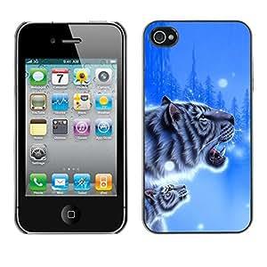 - CUB SNOW TIGER NATURE POSTER WINTER BLUE - - Monedero pared Design Premium cuero del tir???¡¯???€????€?????n magn???¡¯